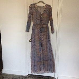 RARE Lurex Dress Drawstring + POCKETS. XS S